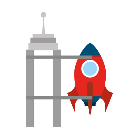 rocket space isolated icon vector illustration design Stock Vector - 80257215