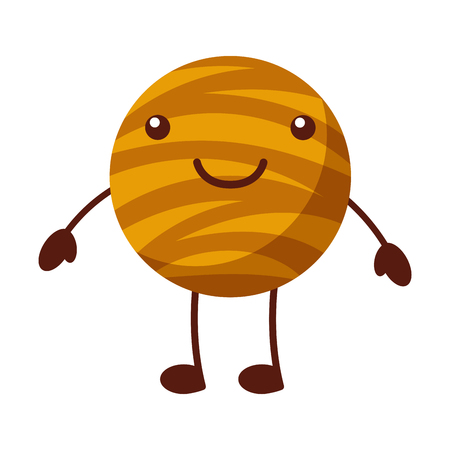 planet jupiter comic character vector illustration design Illustration