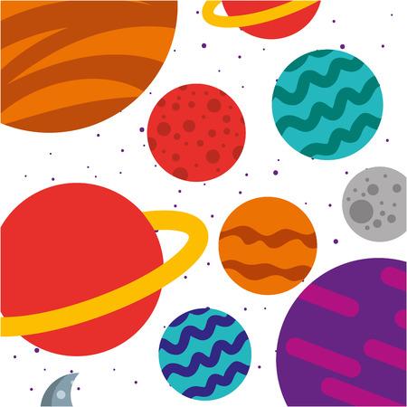 宇宙天の川の背景ベクトル イラスト デザイン