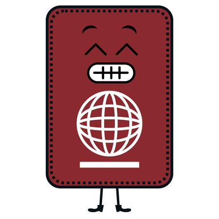 passport document character vector illustration design