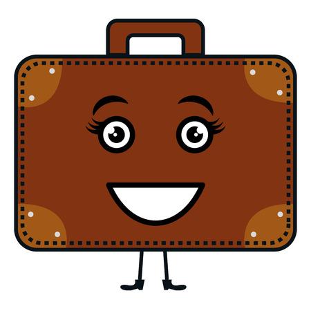 Koffer reizen karakter vector illustratie ontwerp Stock Illustratie