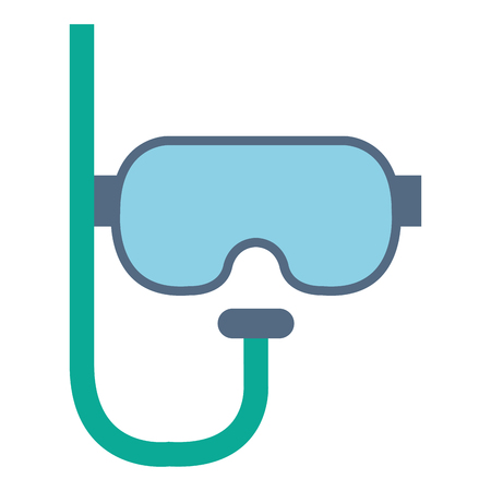 diving goggles  isolated icon vector illustration design