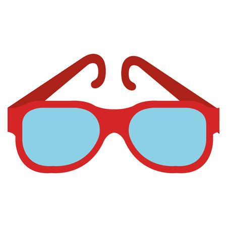 eye glasses fashion icon vector illustration design Illustration