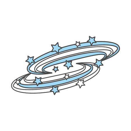 우주 은하수 배경 벡터 일러스트 레이션 디자인 일러스트