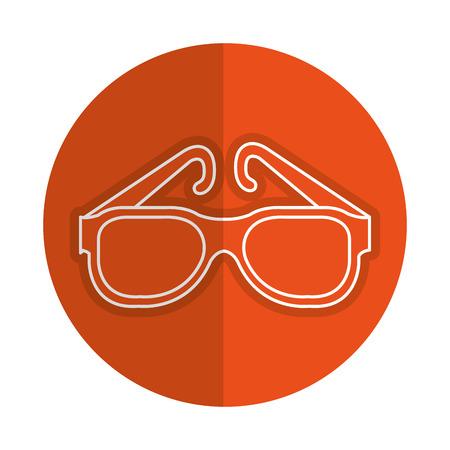 oogglazen mode-pictogram vector illustratie ontwerp Stock Illustratie