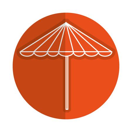 beach umbrella summer icon vector illustration design