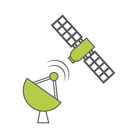 probes: artificial satellite spacial icon vector illustration design Illustration