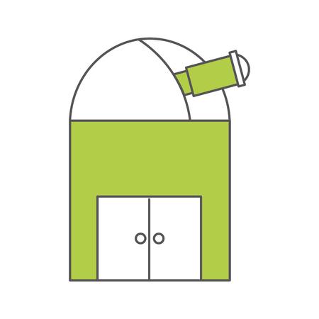astronomische Observatorium geïsoleerd pictogram vector illustratie ontwerp Stock Illustratie