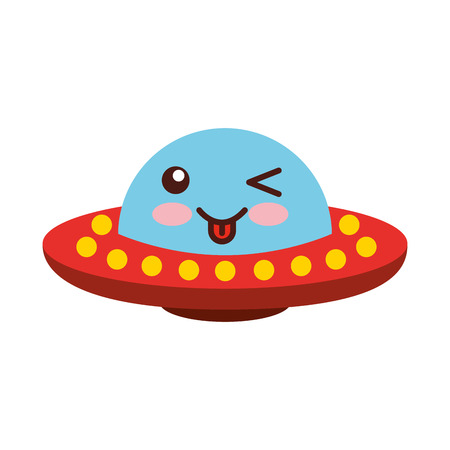 unidentified flying object comic character vector illustration design Illustration