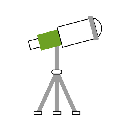 observation: telescope device spacial icon vector illustration design