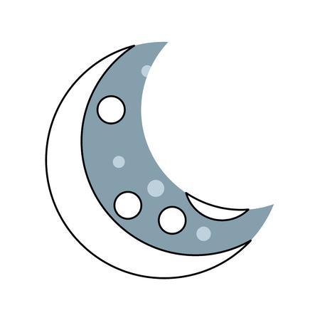 Natürliche Satelliten-Mond-Symbol Vektor-Illustration Design Standard-Bild - 80263143