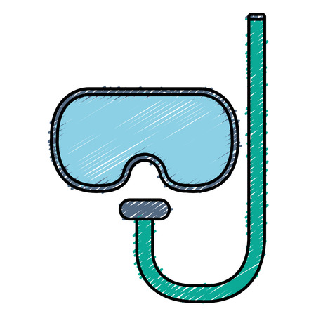 swimming glasses: diving goggles isolated icon vector illustration design