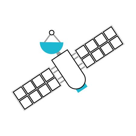 artificial satellite spacial icon vector illustration design Illustration
