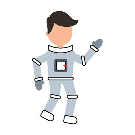 astronaut comic character icon vector illustration design Illustration