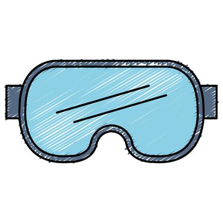 ダイビング グーグル分離アイコン ベクトル イラスト デザイン  イラスト・ベクター素材