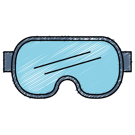 diving googles isolated icon vector illustration design Çizim