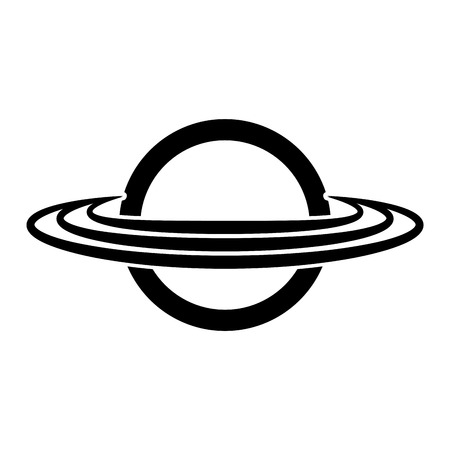outerspace: saturn planet isolated icon vector illustration design