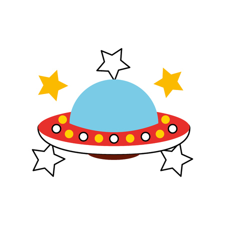 unidentified flying object icon vector illustration design