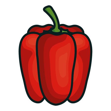 Peper Vers Groente Pictogram Vector Illustratie Ontwerp Stock Illustratie