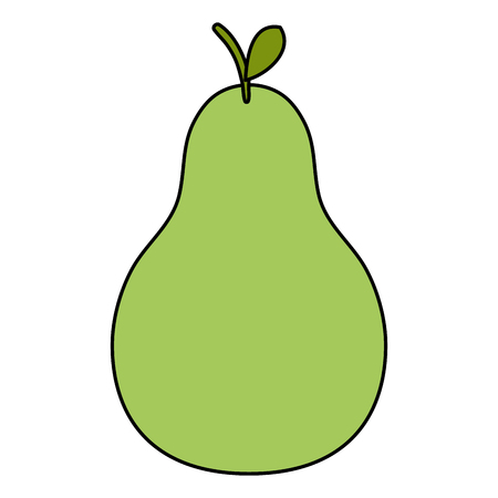 pear fresh fruit icon vector illustration design 向量圖像