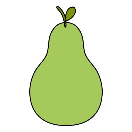 Peer vers fruit pictogram vector illustratie ontwerp Stock Illustratie