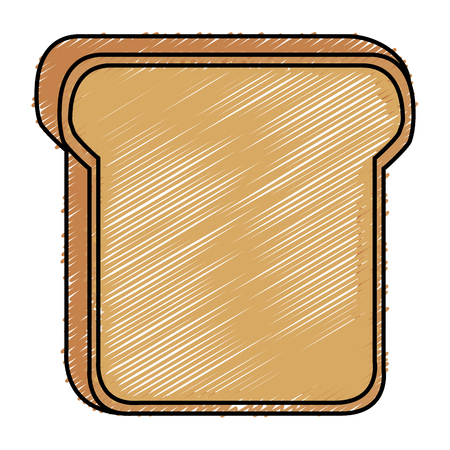 delicious toast bread isolated icon vector illustration design Zdjęcie Seryjne - 80263315