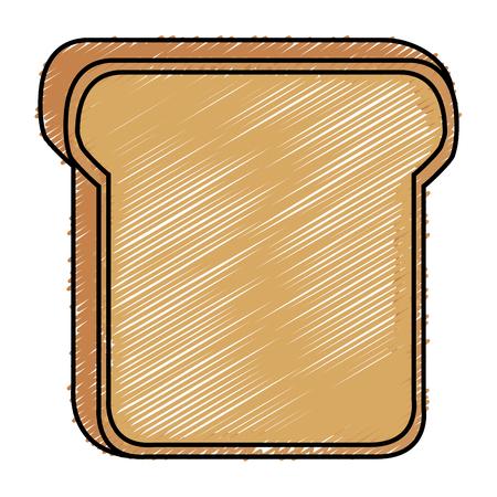 pyszne toast chleb wyizolowanych ikona ilustracji wektorowych projektowania
