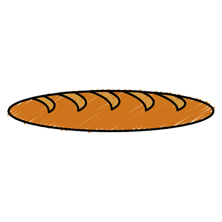 toasted: delicious french bread icon vector illustration design