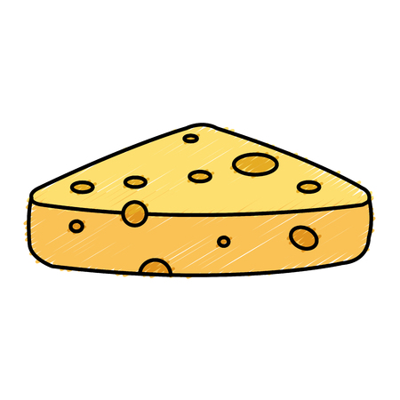 cheddar: fresh cheese piece icon vector illustration design