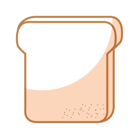delicious toast bread isolated icon vector illustration design