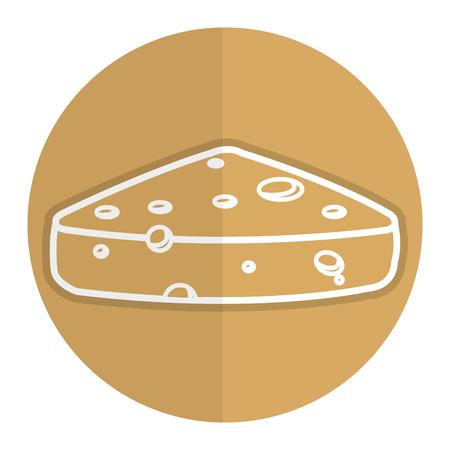フレッシュ チーズの部分のアイコン ベクトル イラスト デザイン