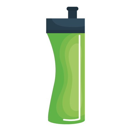 A bottle gym isolated icon vector illustration design.