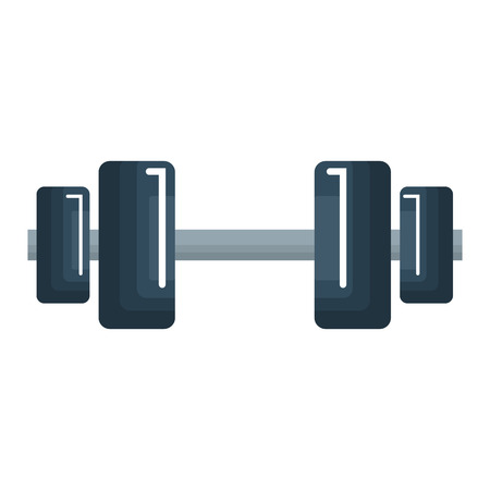 A weight lifting device icon vector illustration design.