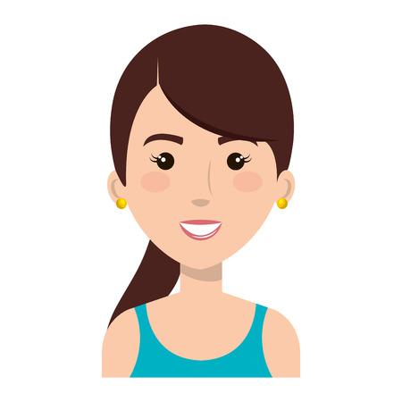 Frau mit Sport tragen Vektor-Illustration Design Standard-Bild - 80263409