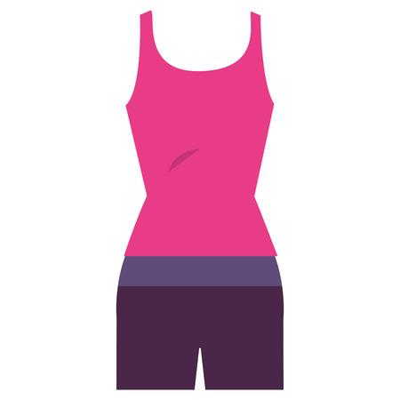 activewear: Female gym sport wear vector illustration design