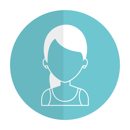 Beautiful and young woman character vector illustration design.