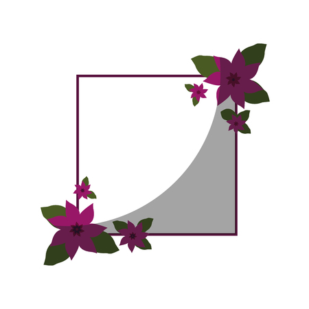 Frame with flowers icon vector illustration graphic design Vector Illustration