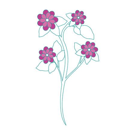 Beautiful ornamental flowers icon vector illustration graphic design Illustration