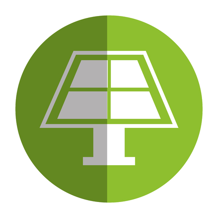 A panel solar isolated icon vector illustration design. Ilustração