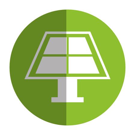 Panel słonecznej izolowanych ikon wektorowych ilustracji projektu.