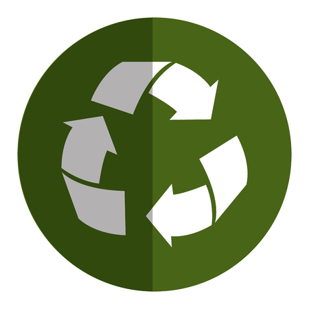 A recycle arrows symbol icon vector illustration design.