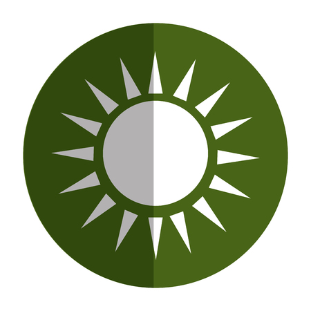 太陽のシルエットは、アイコン ベクトル イラスト デザインを分離しました。  イラスト・ベクター素材