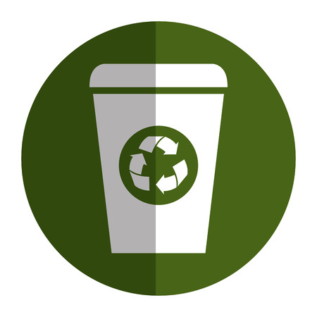 A ecology recycle bin isolated icon vector illustration design.