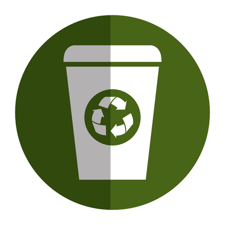 ecology recycle bin isolated icon vector illustration design
