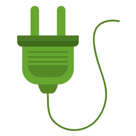 Vector de illustratieontwerp van het energiestop geïsoleerd pictogram.