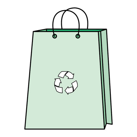 Shopping bag with recycle symbol vector illustration design. Illustration