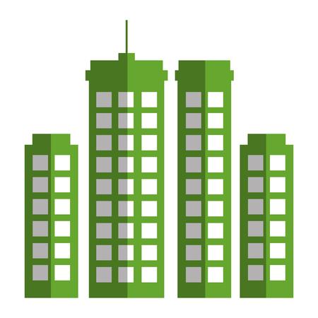 Edifici paesaggio urbano isolato icona illustrazione vettoriale di progettazione Archivio Fotografico - 80347730