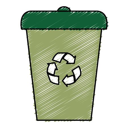Ökologie Recycling Bin isoliert Symbol Vektor-Illustration , Design ,