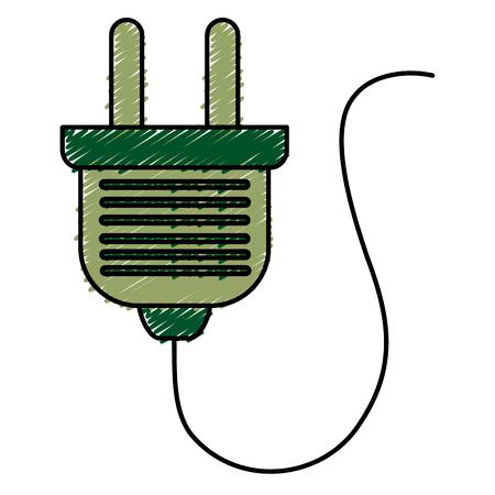 effectiveness: energy plug isolated icon vector illustration design