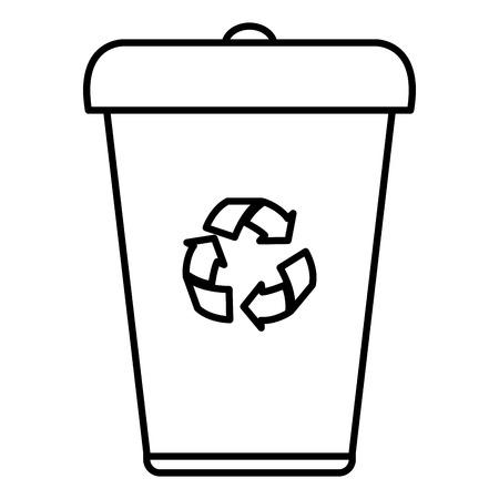 Ökologie Recycling Bin isoliert Symbol Vektor-Illustration , Design , Vektorgrafik